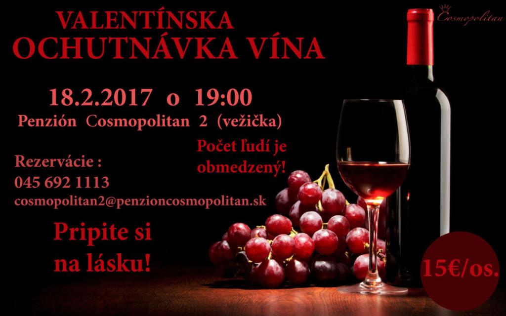 Valentinska ochutnavka vin, Cosmopolitan, Banska Stiavnica