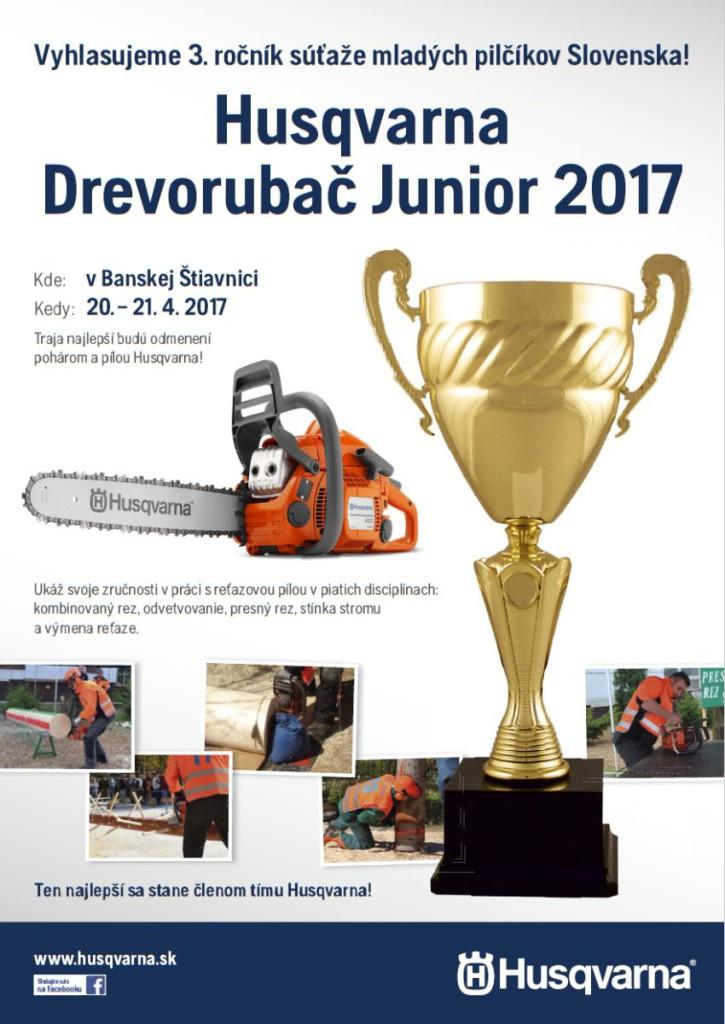 Husqvarna Drevorubač Junior 2017